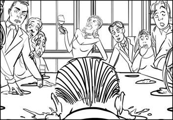 Denice Au's People - B&W Line storyboard art
