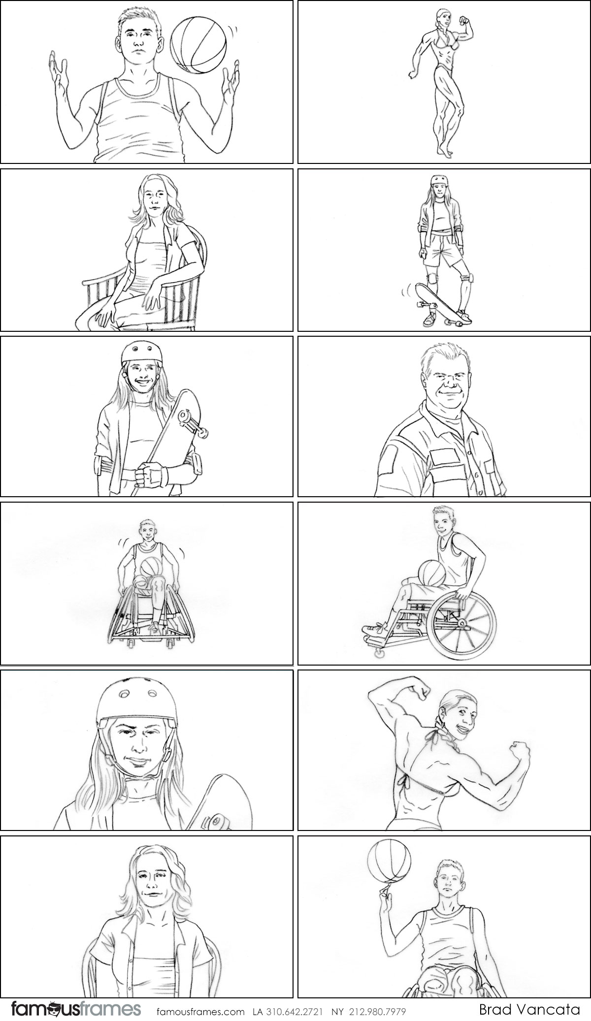 Brad Vancata's People - B&W Line storyboard art (Image #26_114_1584060026)