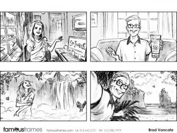 Brad Vancata's People - B&W Tone storyboard art