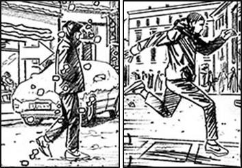 Brad Vancata's People - B&W Line storyboard art