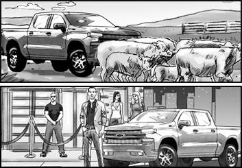 Brad Vancata's Vehicles storyboard art