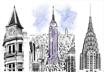 Brad Vancata's Architectural storyboard art