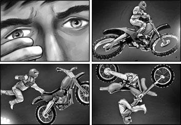 Brad Vancata's Action storyboard art