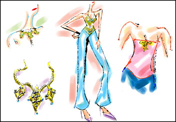 Brad Vancata's Beauty / Fashion storyboard art