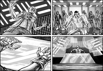Brad Vancata's Music Video storyboard art
