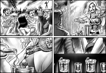 Brad Vancata's People - B&W Tone storyboard art