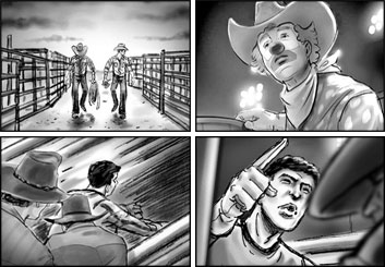 Brad Vancata's Shootingboards storyboard art