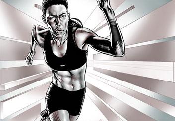 Brad Vancata's Sports storyboard art