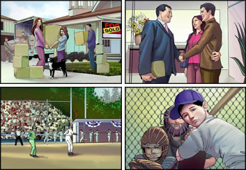 Brian Murray's People - Color  storyboard art