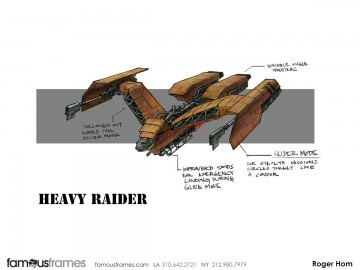 Roger Hom's Concept Vehicles storyboard art