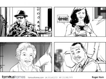 Roger Hom's People - B&W Line storyboard art