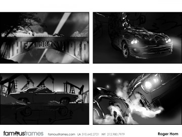 Roger Hom's Vehicles storyboard art