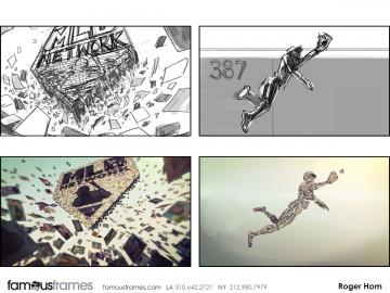 Roger Hom's Action storyboard art