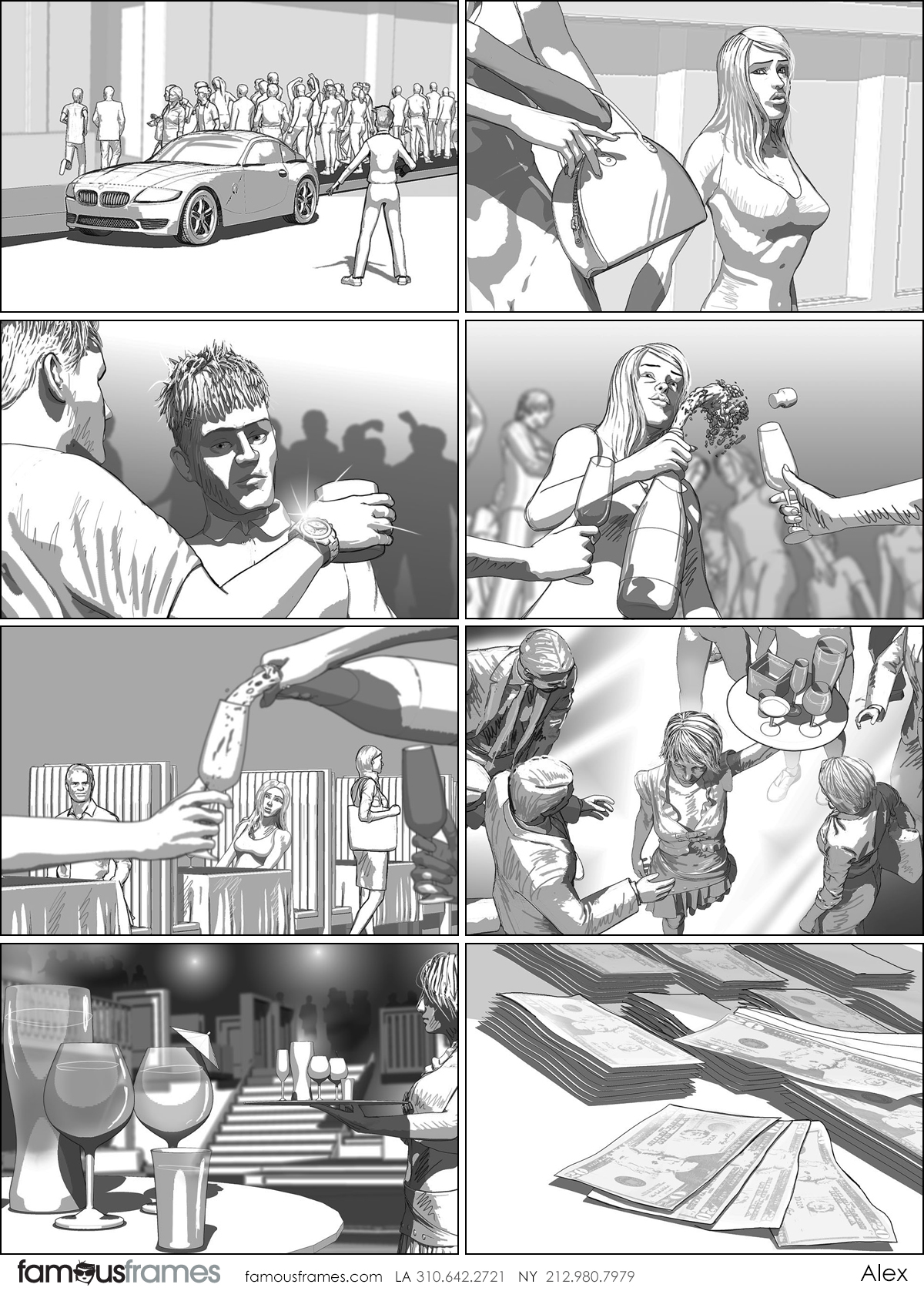Alex's People - B&W Tone storyboard art (Image #31467_113_1592785323)