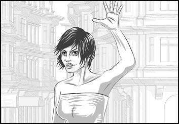 Alex's People - B&W Tone storyboard art