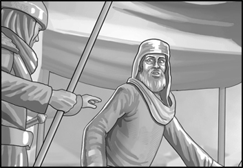 Alex's People - B&W Tone storyboard art