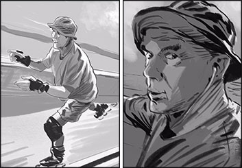 David Case's Shootingboards storyboard art
