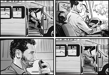 David Case's Vehicles storyboard art