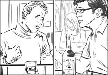 David Case's People - B&W Line storyboard art