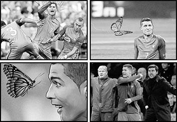 David Case's Sports storyboard art