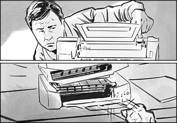 David Case's Shootingboards storyboard art