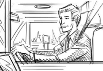 David Hillman's Film/TV storyboard art
