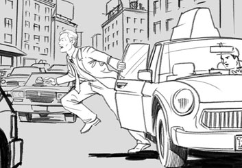 David Larks's Action storyboard art