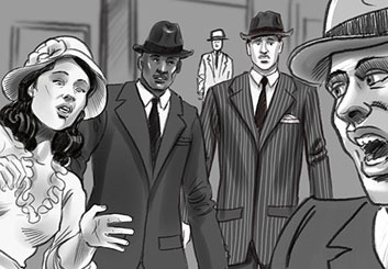 David Larks*'s People - B&W Tone storyboard art