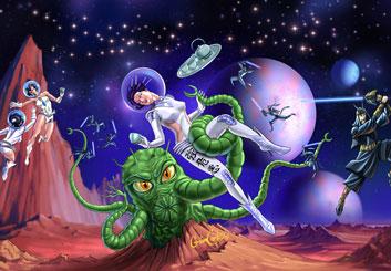 David Larks*'s Sci-Fi storyboard art