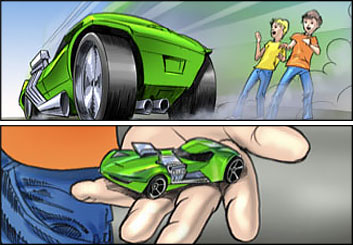 David Larks*'s Toys storyboard art