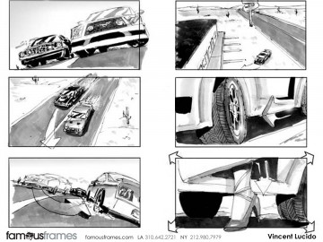 Vincent Lucido*'s Shooting Vehicles storyboard art