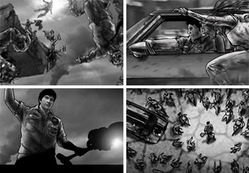 Vincent Lucido*'s Video Games storyboard art