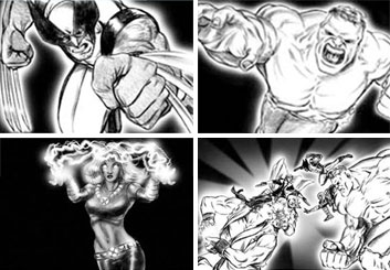 Vincent Lucido*'s Shooting Animation  storyboard art