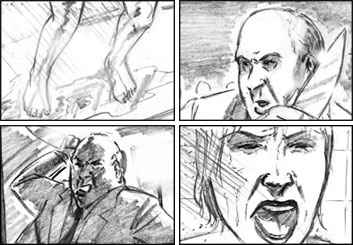 Vincent Lucido*'s Action storyboard art