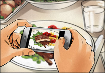 Jeff Norwell's Food storyboard art