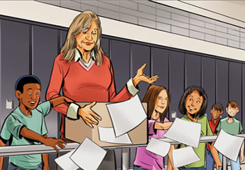 Jeff Norwell's People - Color  storyboard art