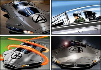 Jeff Norwell's Vehicles storyboard art