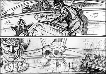 Jeff Norwell's Comic Book storyboard art
