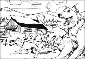 Jeff Norwell's Wildlife / Animals storyboard art
