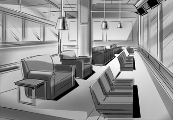 Jeff Norwell's Environments storyboard art
