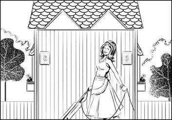 Jeff Norwell's Beauty / Fashion storyboard art