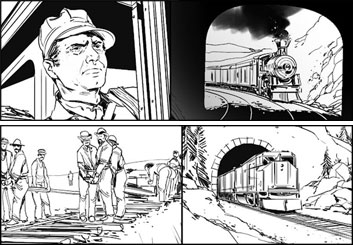 Jeff Norwell's Shootingboards storyboard art