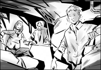 Jeff Norwell's People - B&W Tone storyboard art