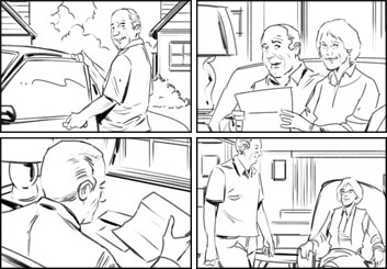Jeff Norwell's People - B&W Line storyboard art
