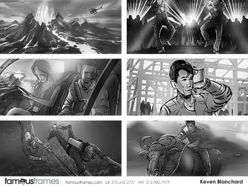 Kevin Blanchard's People - B&W Tone storyboard art