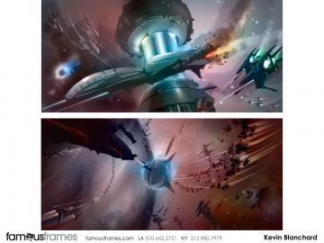 Kevin Blanchard's Sci-Fi storyboard art