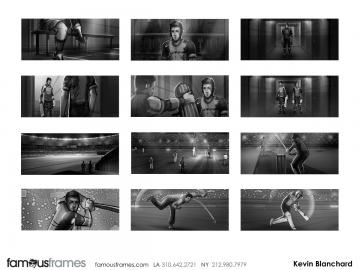 Kevin Blanchard's Sports storyboard art