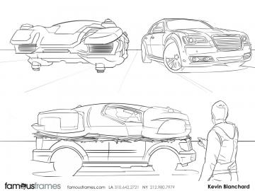 Kevin Blanchard's Vehicles storyboard art