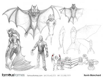 Kevin Blanchard's Toys storyboard art