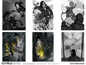 Kevin Blanchard's Action storyboard art